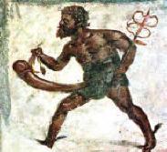 """""""Mercurio"""". Dipinto di Hendrick Goltzius"""
