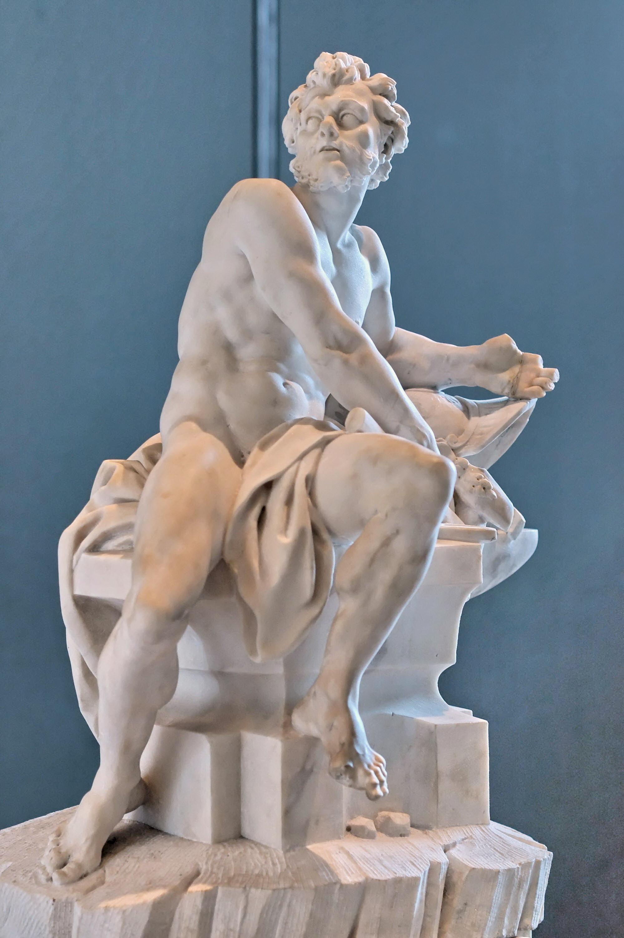 Efesto (Vulcano) - Marmo di Guillaume Coustou - Museo del Louvre Parigi
