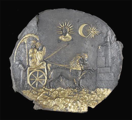 Placca di Cibele (Afghanistan, Aï Khanoum, Santuario del tempio a celle III sec. a. C)