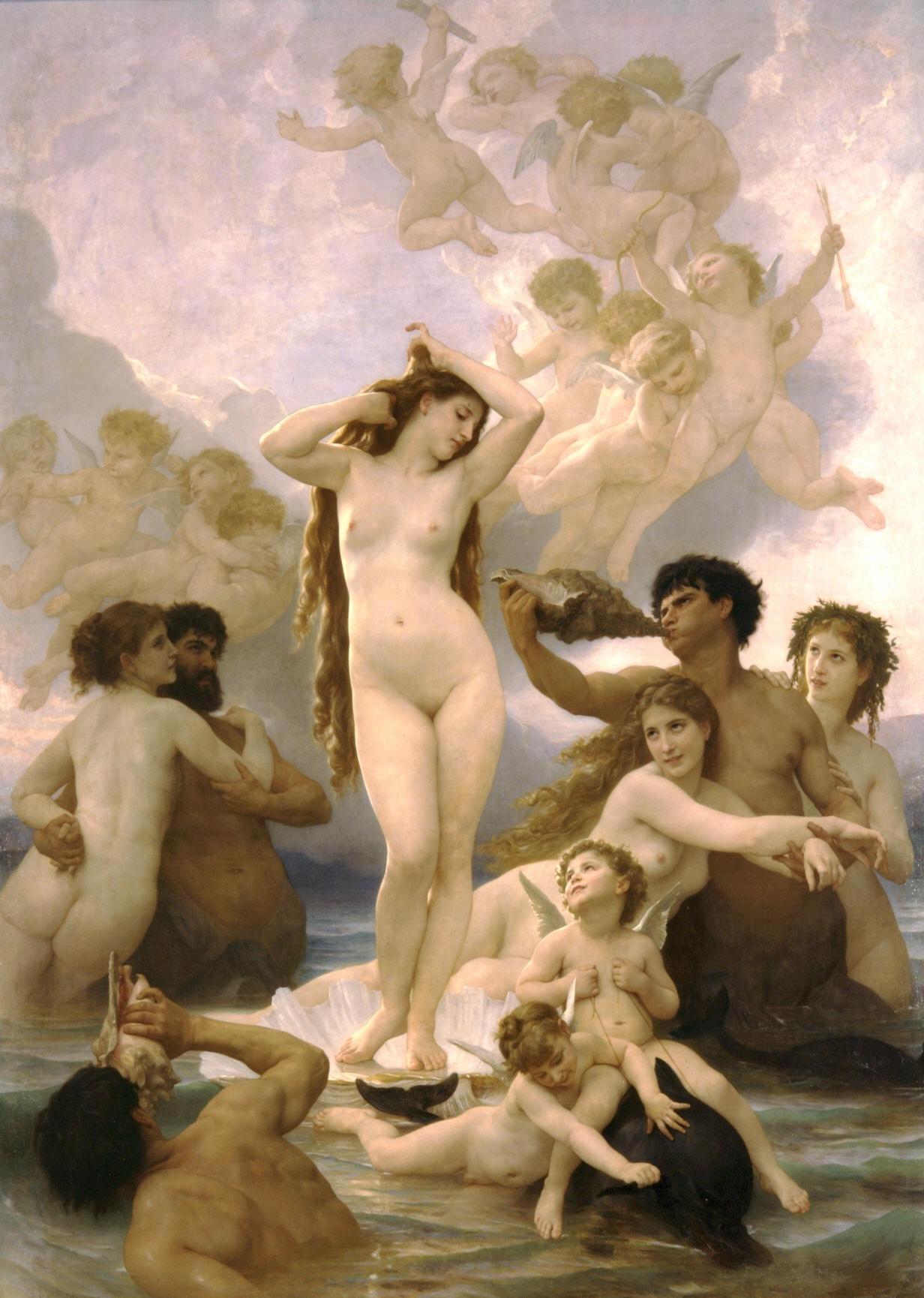 Nascita di Venere (Museo d'Orsay Parigi -Bouguereau 1879)