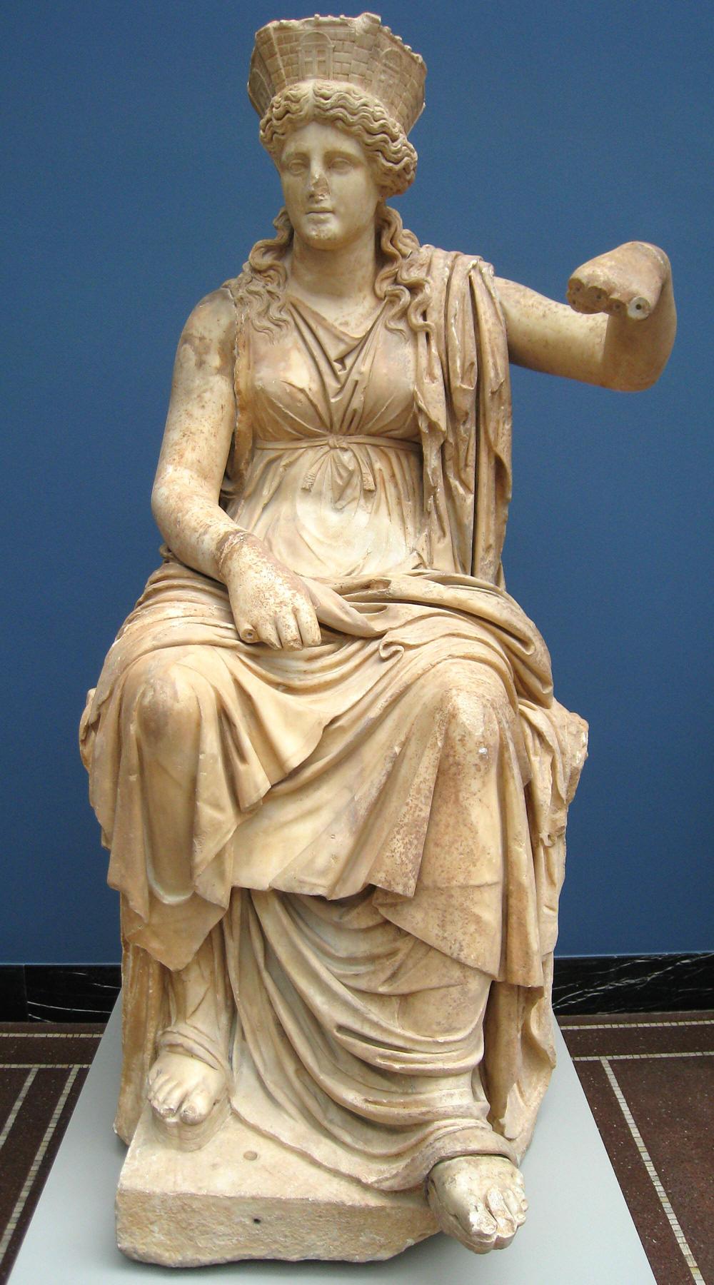Statua in marmi di Cibele I. sec. d.C. Formia