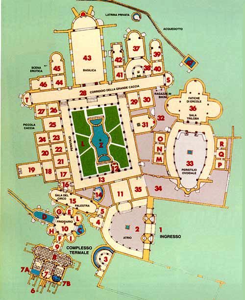 Planimetria Villa romana del Casale 1